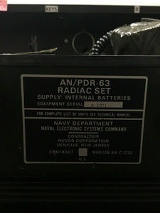 US Navy AN/PDR-63 Radiac Set - Gamma radiation dose instrument (1971)-3560