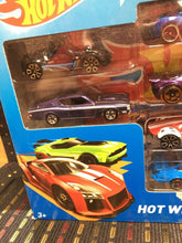Load image into Gallery viewer, Hot Wheels 9 Car Exclusive Decoration Pack Diecast 1/64 Scale