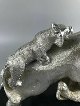Load image into Gallery viewer, Vintage Aluminum Elephant Vs Tigers Sculpture- 1121