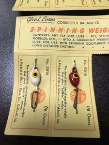 Vintage Fishing Weights Lot Of 5 8046