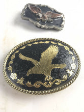 Load image into Gallery viewer, Assorted Lot Of 3 Mens Belt Buckles- Eagle & Horseshoe- 5712