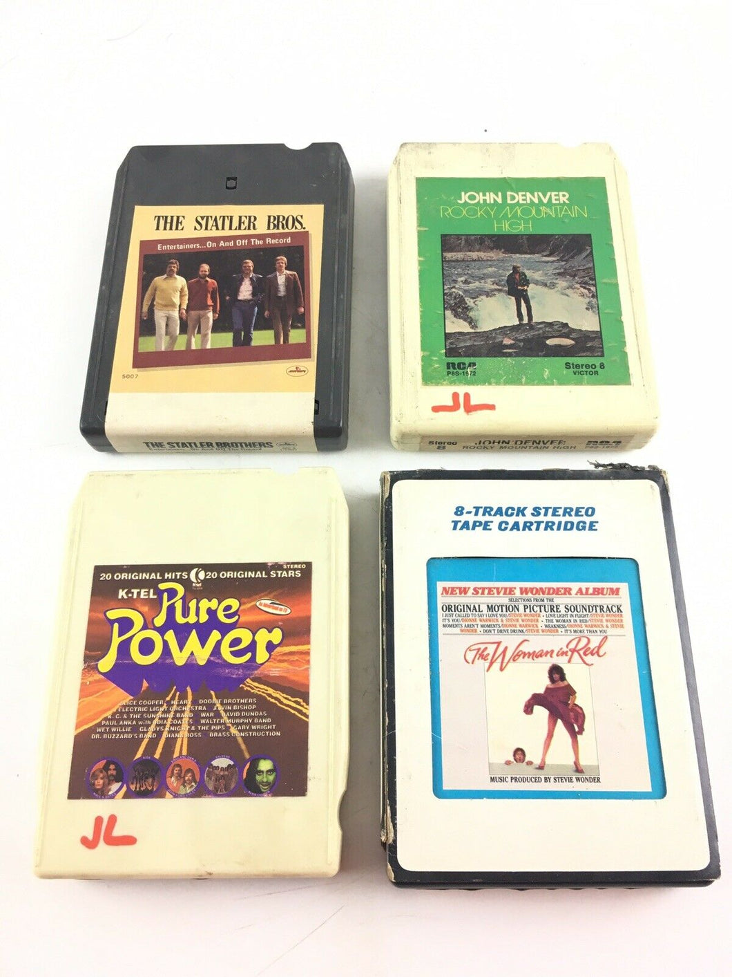 Vintage 8-track Tapes:Statler Bro's, John Denver, Pure Power, Stevie Wonder 5690