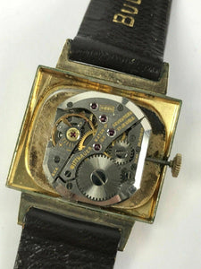 Vintage Gents Wittnauer 10 KT Yellow Gold Filled Wrist Watch 1950's 9WN #1595