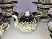 Load image into Gallery viewer, 15pc Vintage Pico Miniature Childs Handpainted Dragon Tea Set Made in Japan-1773