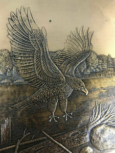 WENDELL AUGUST FORGE EAGLE BRONZE PLATTER/PLATE - Lot 590