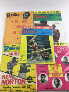 Assorted Lot Of 5 Vintage Boxing Magazines-1973 MINT-5485