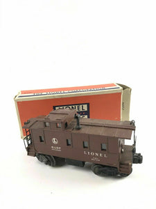 Lionel Early C8 6457 Brown Stack Caboose C8 3 City Box- Flaps Intact 1948-4812