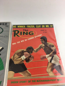 Assorted Lot Of 5 Vintage Boxing Magazines-1955-72 MINT-5546