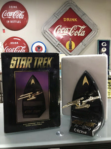 Signed Star Trek U.S.S. Enterprise NCC-1701 W/ Box-8134