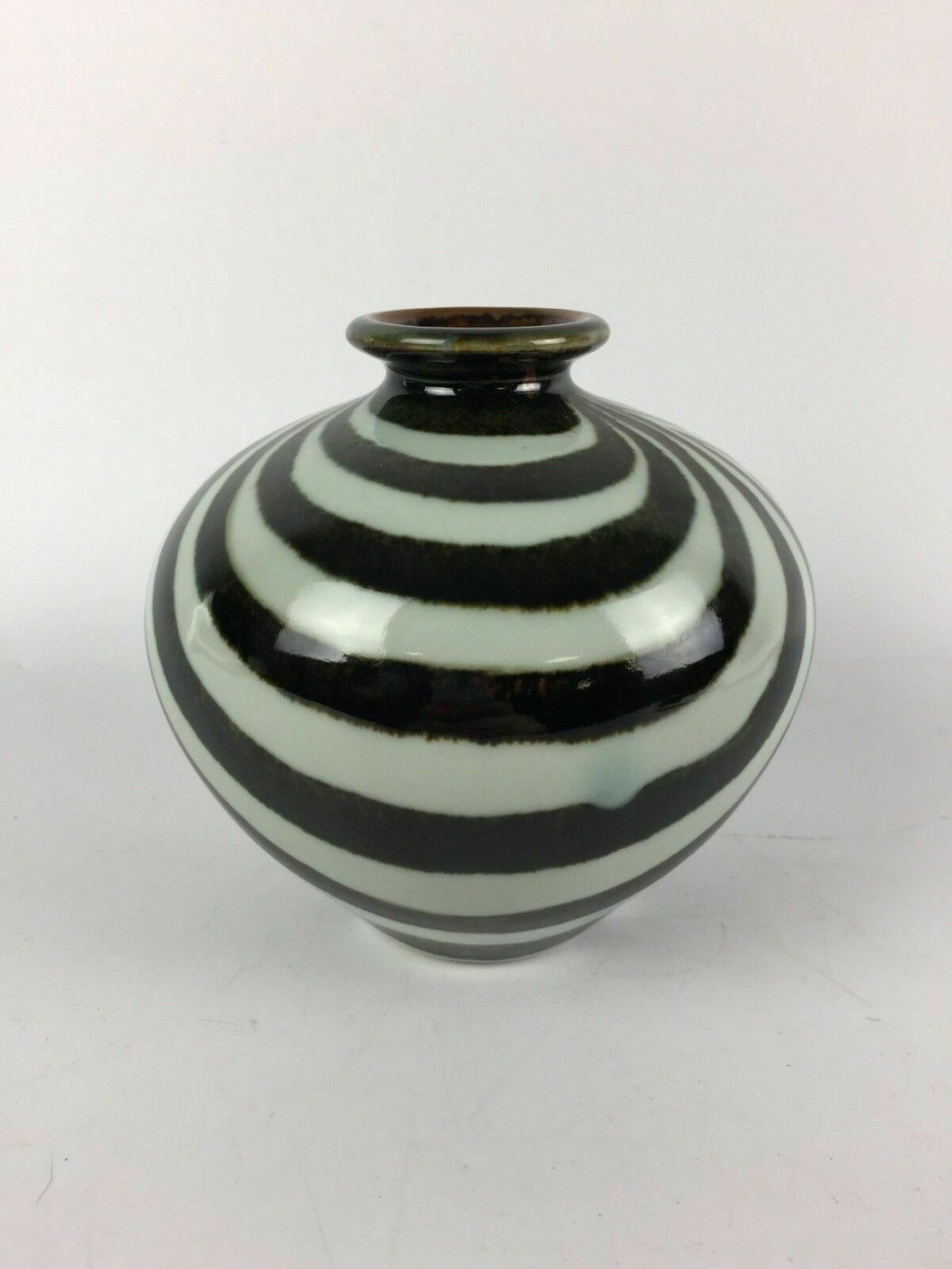 Small Decorative Zebra Print Vase - lot 1997