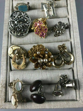 Load image into Gallery viewer, 24 PAIR ASSORTED COSTUME JEWELRY EARRINGS - CLIP ON & SCREW BACK - LOT 3506