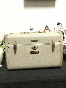 Samsonite Luggage Vintage Mirror Case Travel Bag Carry On Style 5412- 4331