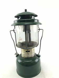 Vintage 1978 Coleman Model 220J Camping Lantern W/ Carrying Handle- 3768