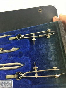 Antique Drafting Set - DIETZGEN NATIONAL DRAWING INSTRUMENTS 4592