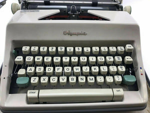 Vintage Olympia DeLuxe Portable German Typewriter-3775