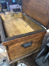 Load image into Gallery viewer, Antique Oak Wooden Machinist Tool Box- 5099