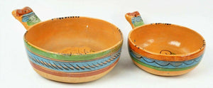 (4) MEXICAN TERRA COTTA NESTING BOWLS =  lot 2787