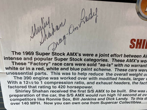 "Ertl Supercar Collectibles 1/18 1969 AMX Super Stock ""Drag-On-Lady"" Autographed"