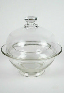 VINTAGE COVERED GLASS BOWL - LOT 2923