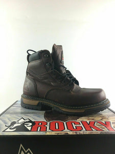 "8 Mens Rocky 5696 IronClad 6"" Slip & Oil Resistant Waterproof Work Boots -3671"