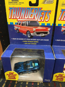 Lot Of 3 Thunder Jets Pull Back Racing Cars