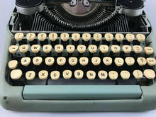 Load image into Gallery viewer, 1955 SMITH CORONA SILENT SUPER SEAFOAM GREEN 5T PORTABLE TYPEWRITER - LOT 3458