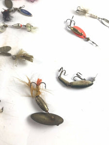 Assorted Lot Of 40 Vintage Small Fishing Lures- 5700
