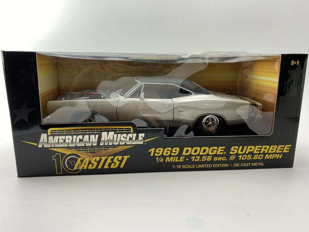 1/18 - ERTL American Muscle 1969 Dodge Super Bee - 10 fastest