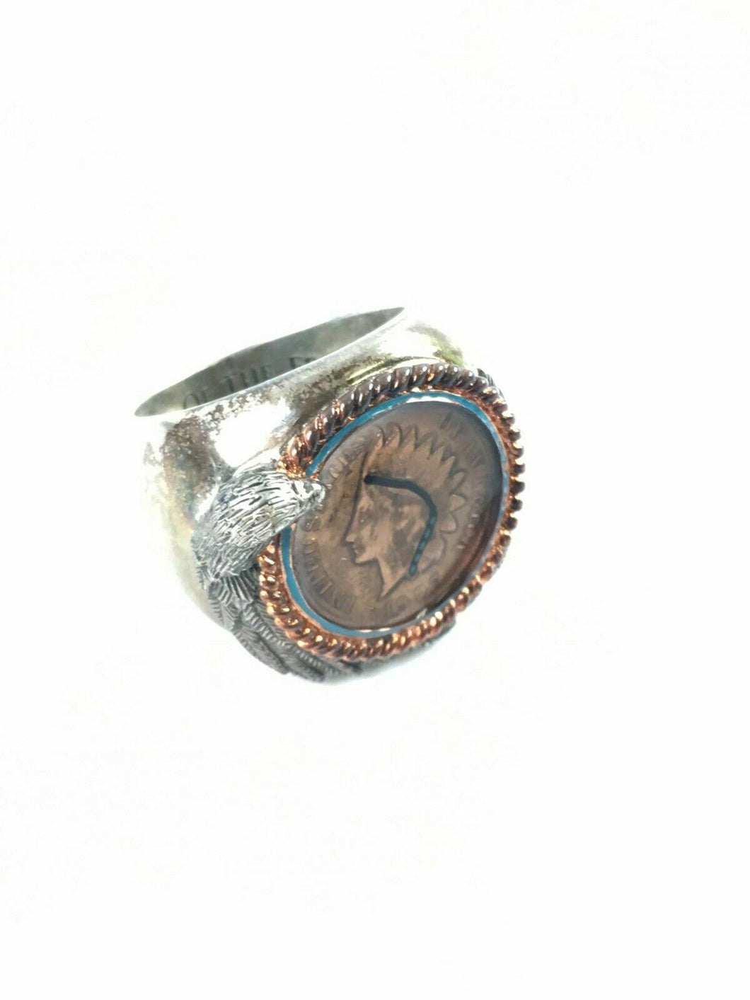 Sterling Silver Indian Ring W/ United States Coin - Lot 3903