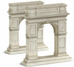 Pair of Washington Square Arch Bookends- Hand Crushed Stone Resin