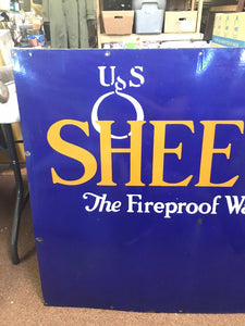 "Vintage US SHEETROCK ""the Fireproof Wallboard"" Advertising Sign US- 5304"