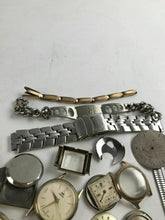 Load image into Gallery viewer, Assorted Lot Of Mens Watch Dials, Bands, & Accessories- Parts Or Repair-4771