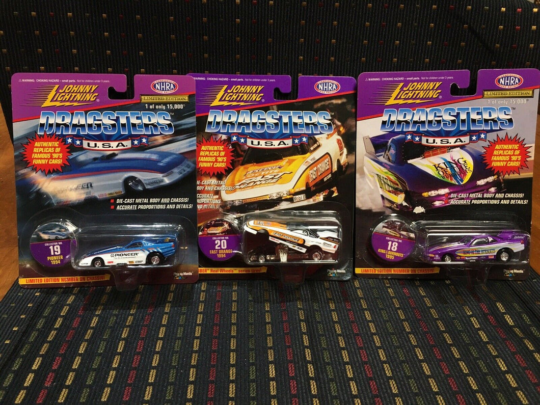 Johnny Lightning Dragsters lot Of 3