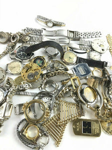 HUGE Assorted Lot Of Mens Wrist Watch Dials & Bands - Rapair Or Parts- 4779