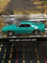 Load image into Gallery viewer, Greenlight County Roads AMC Javelin AMX Diecast 1/64 Scale Turquoise Green