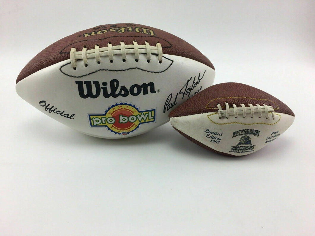 1994 NFL PRO BOWL & 1997 PITTSBURGH PANTHERS FOOTBALLS - LOT 3073