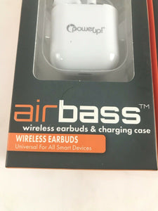 Power Up! Air Bass Wireless Earbuds & Charging Case pack of (2) DH108