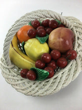 Load image into Gallery viewer, Vintage Capodimonte Porcelain Woven Fruit Basket - Lot 3315