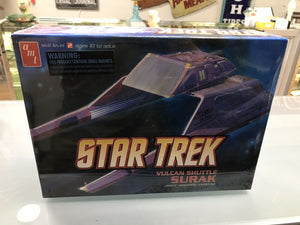 Star Trek Vulcan Shuttle Surak AMT641 Plastic Model Kit New Sealed - 3211