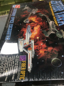 STAR TREK The Enterprise Incident Fiber Optic Model Kit 1996 Sealed 3224