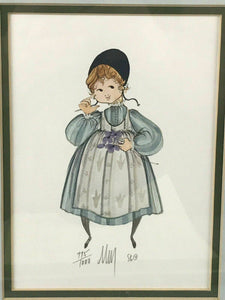 "1986 PATRICIA BUCKLEY MOSS LITHOGRAPH "" CAROLINE"" 775/1000 - LOT 3473"