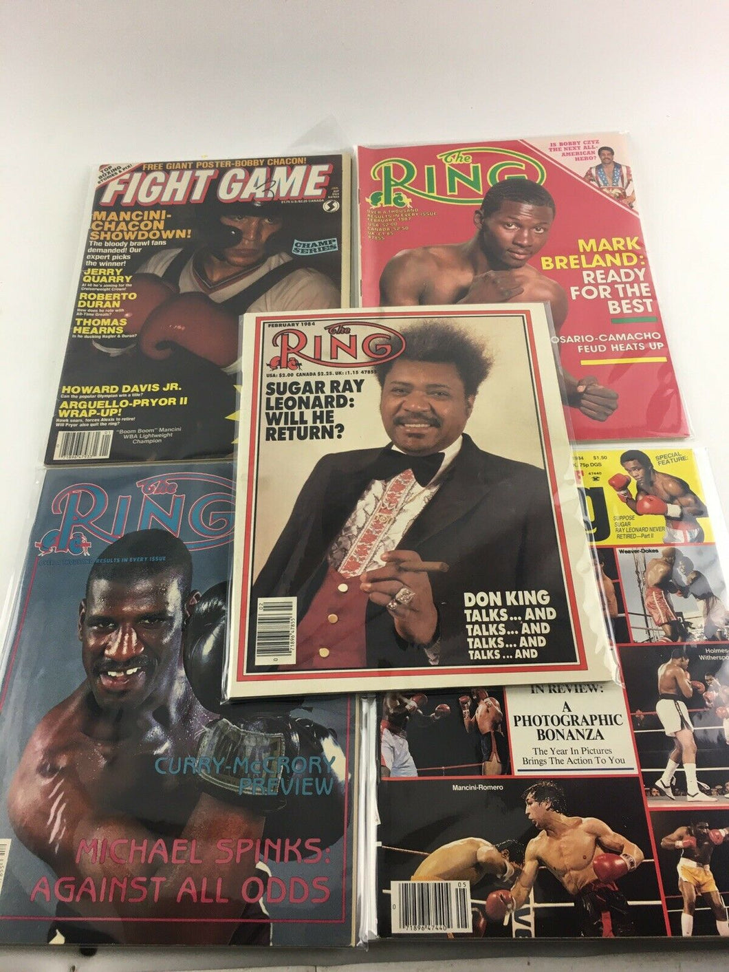 Assorted Lot Of 5 Vintage Boxing Magazines-1984-87MINT-5503