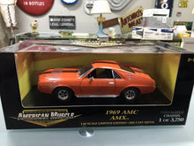 Load image into Gallery viewer, ERTL AMERICAN MUSCLE 1:18 1969 AMC AMX SERIALIZED CHASSIS 1 OF 3,750 B/NEW-3181