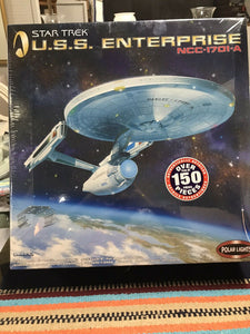 Star Trek USS Enterprise NCC-1701-A 1:350 Unpainted Model Kit Polar Lights-9080