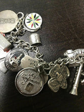 Load image into Gallery viewer, Vintage Steriling 23pc Beautiful Charm Bracelet- 3644