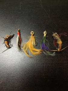 Vintage Fly Fishing Lot Of 5 8073