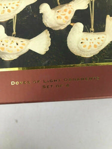 Lenox Doves of Light Christmas Holiday Ornaments BOX SET of 4 New- Lot 542