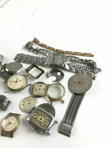 Assorted Lot Of Mens Watch Dials, Bands, & Accessories- Parts Or Repair-4771