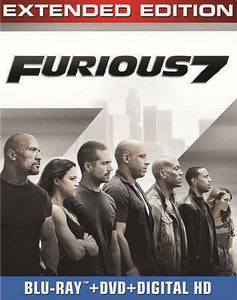 FURIOUS 7 BLU-RAY DVD-3154