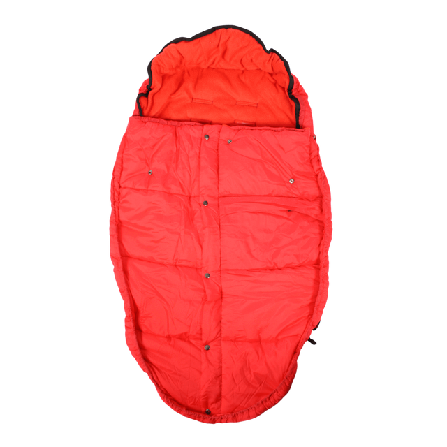 Mountain Buggy durable soft fleece lined sleeping bag in colour red_red